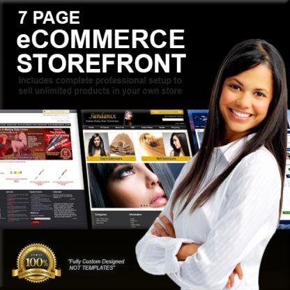 7 Page Custom Designed eCommerce Storefront