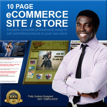 10 Page Custom Designed eCommerce Storefront