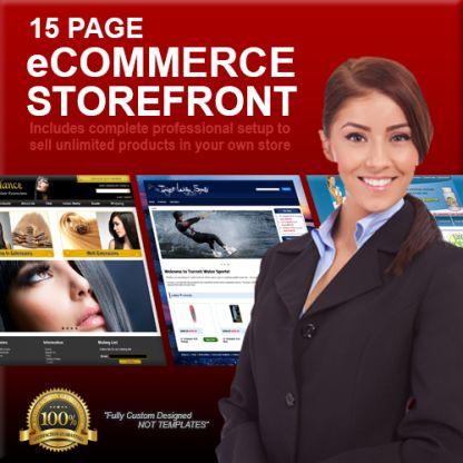 15 Page Custom Designed eCommerce Storefront