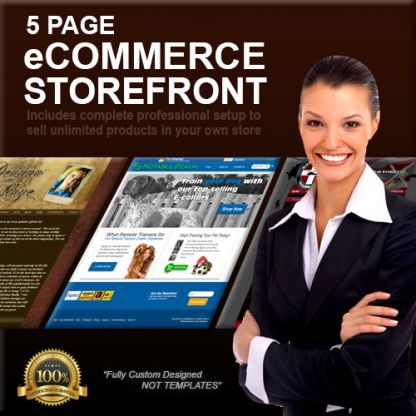 5 Page Custom Designed eCommerce Storefront