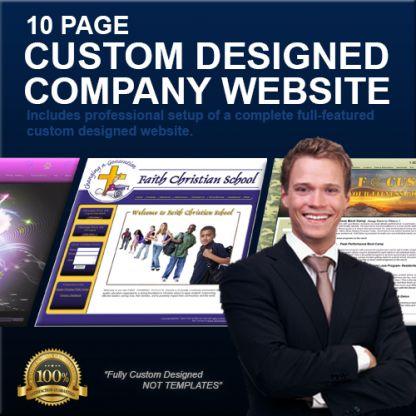 10 Page Custom Designed Company Website