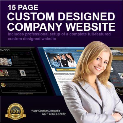15 Page Custom Designed Company Website