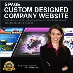 5 Page Custom Designed Company Website